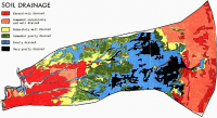 Soil drainage map