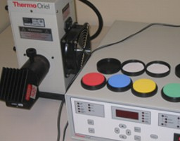 UV lamp and calibration disks